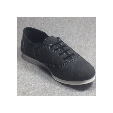 Chaussures Sneakers Oxford noires garant