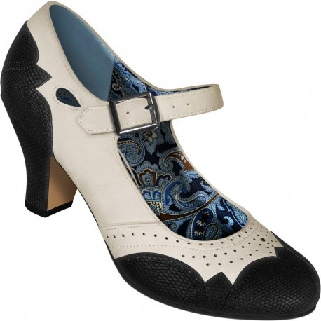Chaussures Mary Jane simili lézard