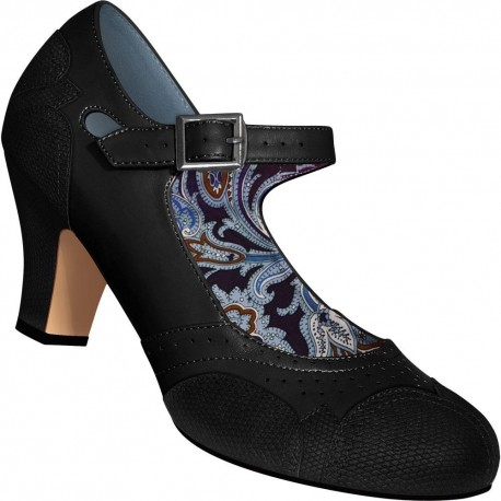 Chaussures Mary Jane simili lézard