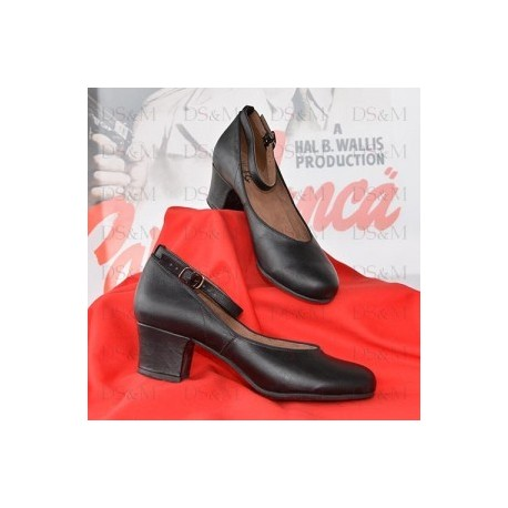 "Chaussures ""1950's Low Heeled black d'Orsay"""